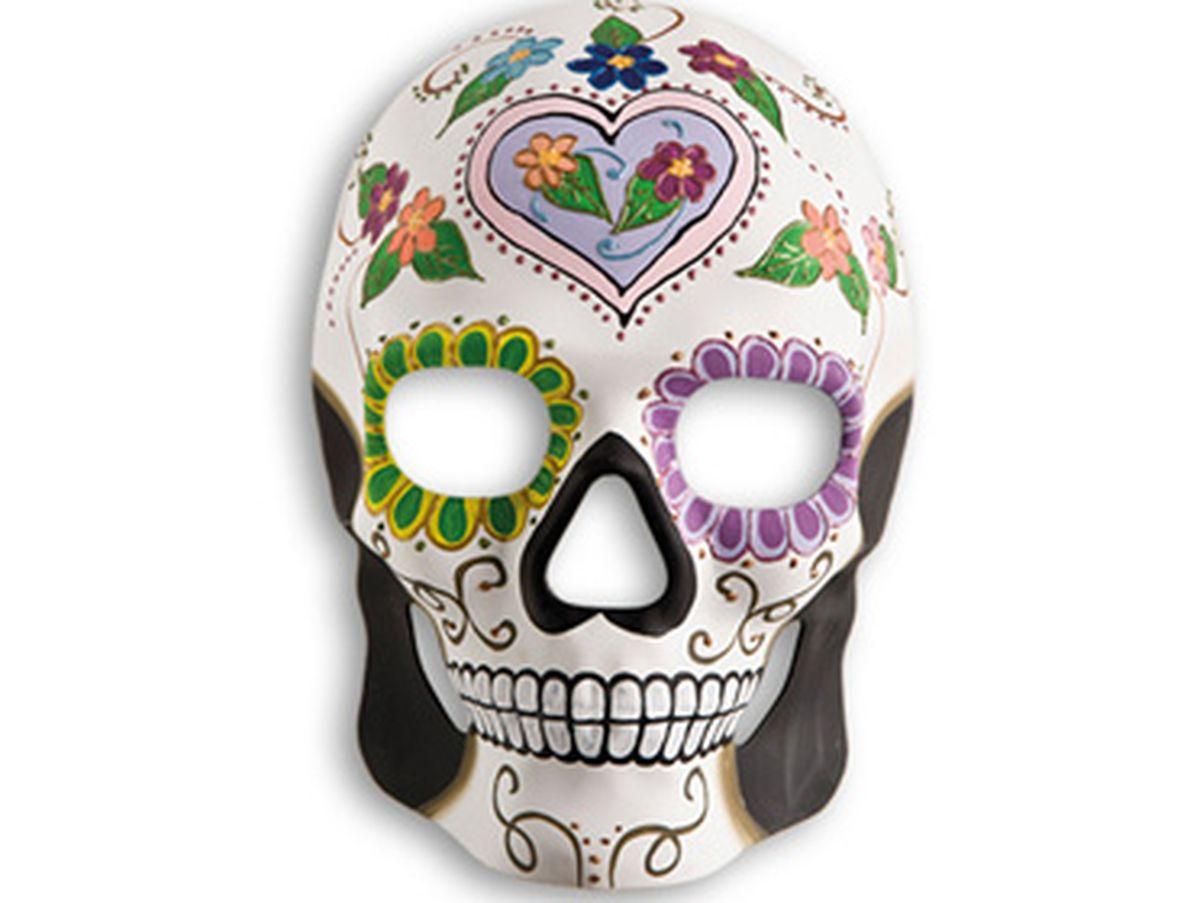 maschera teschio cuore