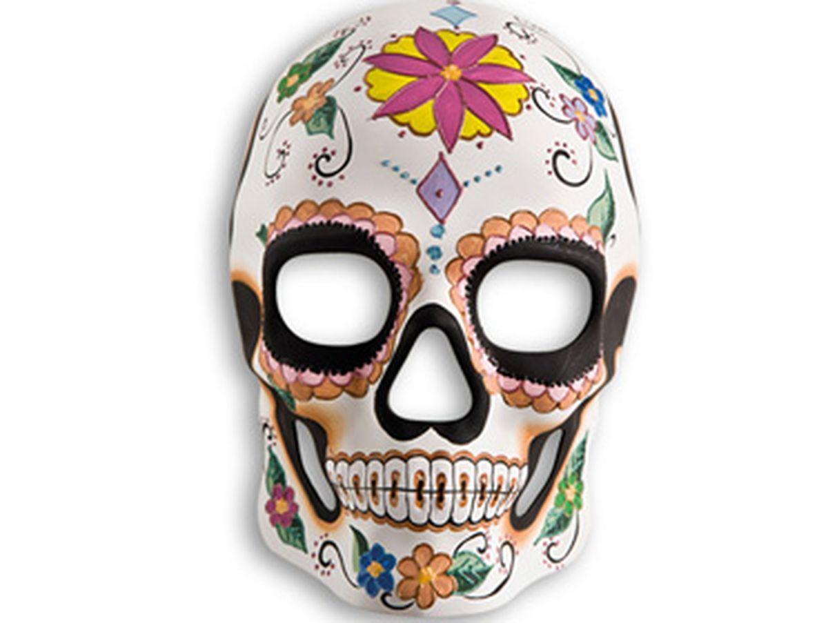 maschera teschio fiore