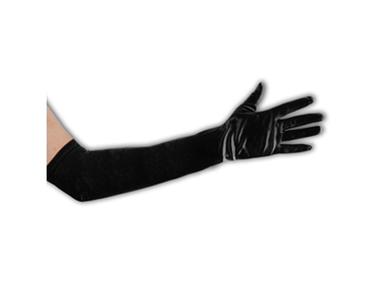 guanti neri in raso cm 50
