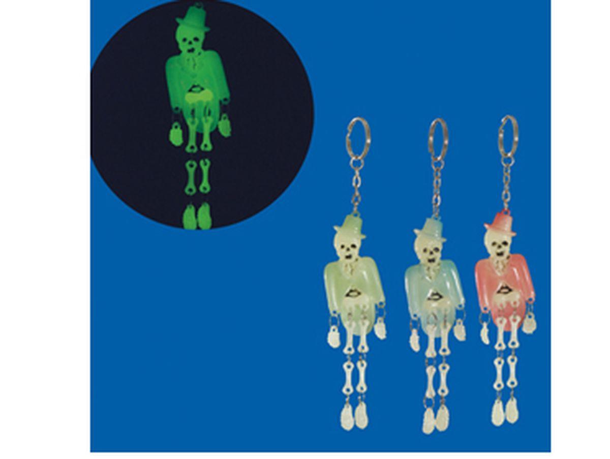 portachiavi scheletro fluorescente