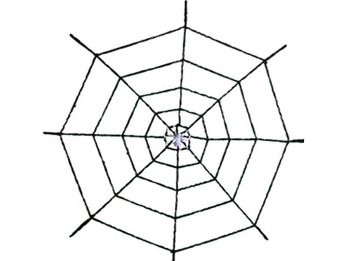 ragnatela nera in ciniglia metri 2 con ragno