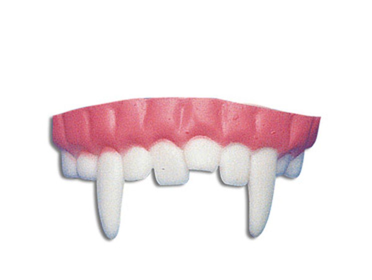 dentiera con canini lunghi