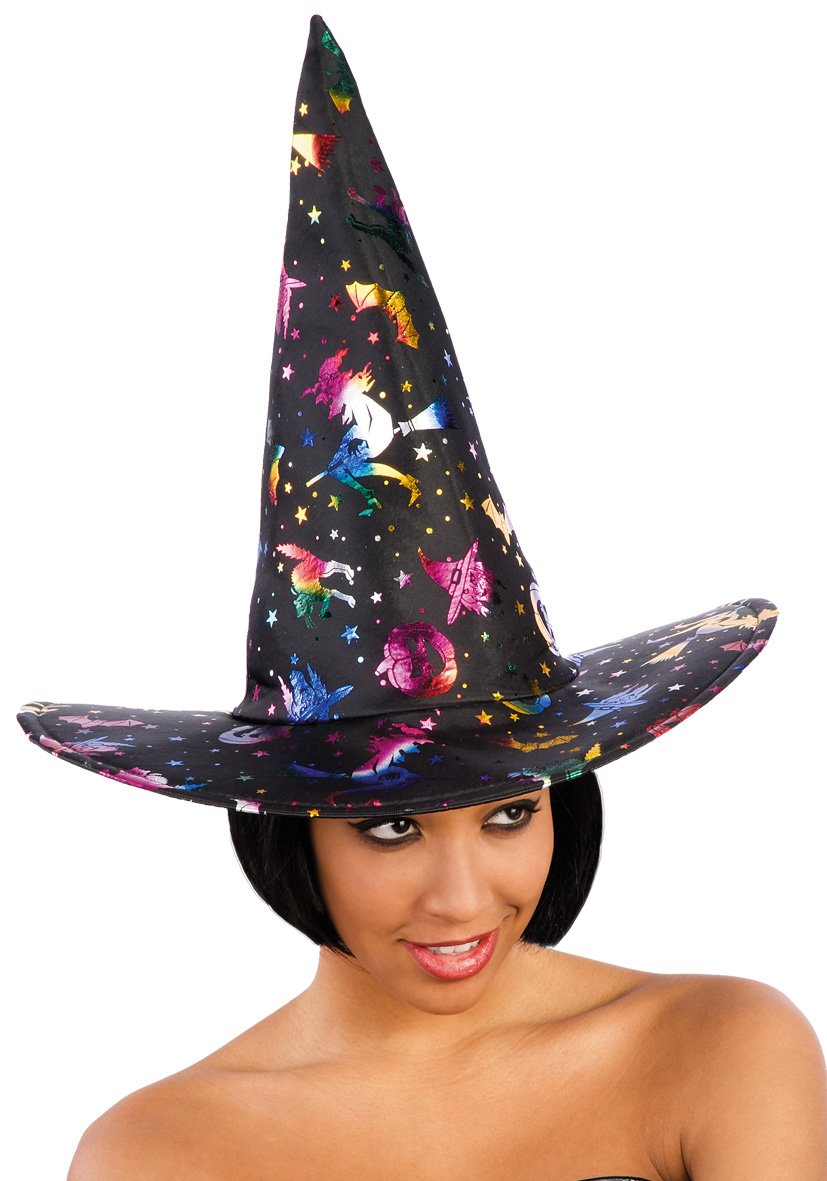 cappello nero con decorazioni metallizzate