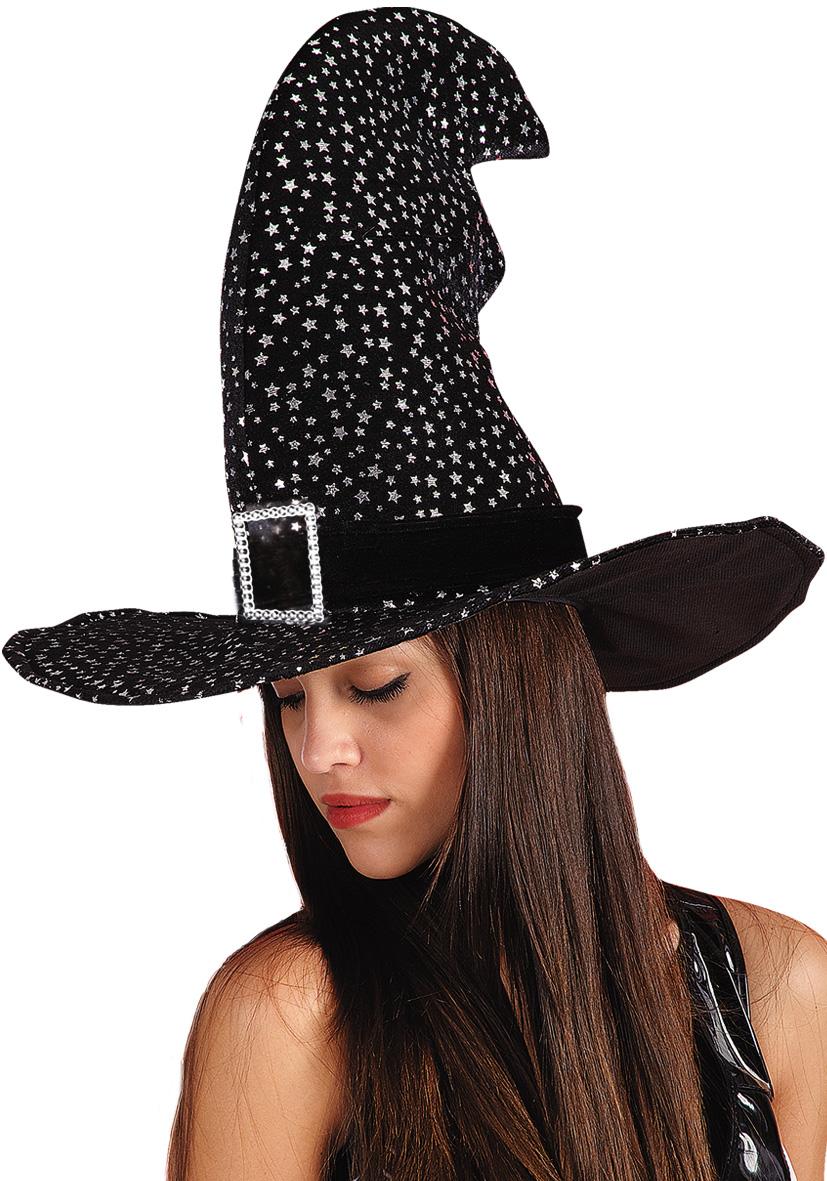 Cappello strega nero con stelle