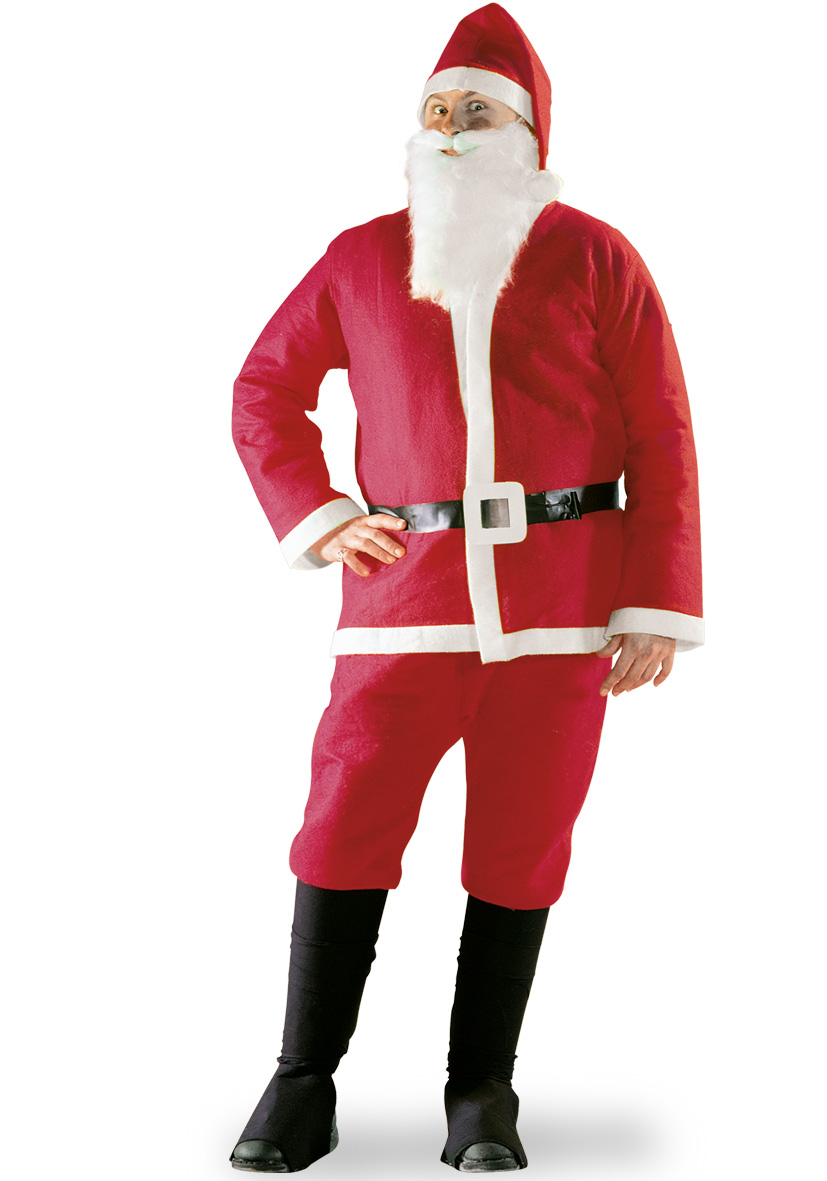 Costume Babbo Natale in panno