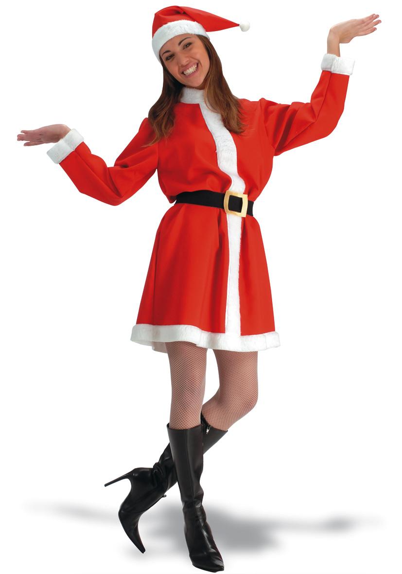 Costume Babbo Natale donna in tela