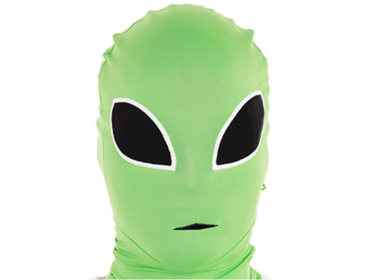 Maschera alieno verde