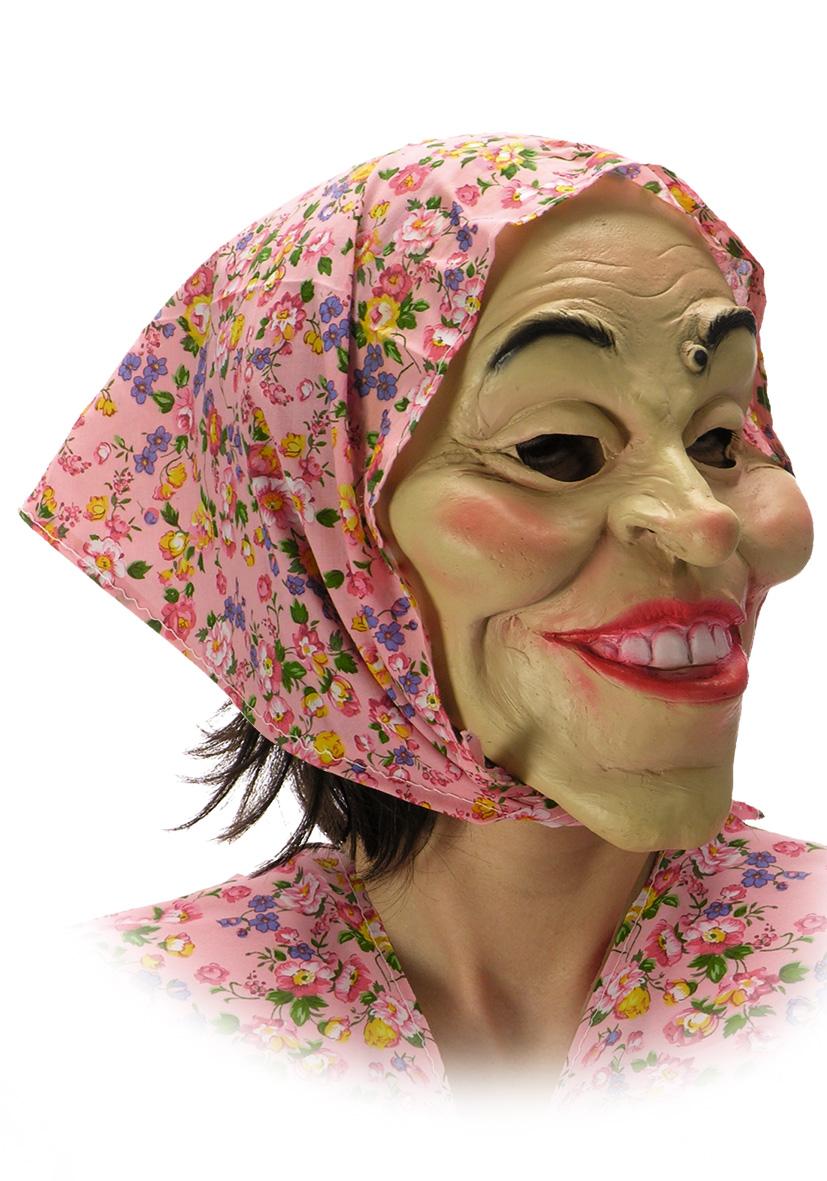 Maschera Befana con fazzoletto