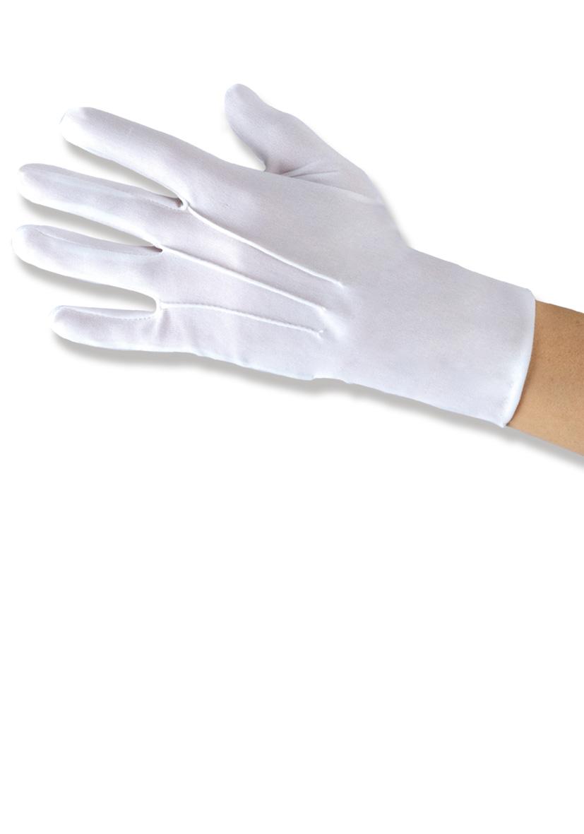 guanti bianchi corti
