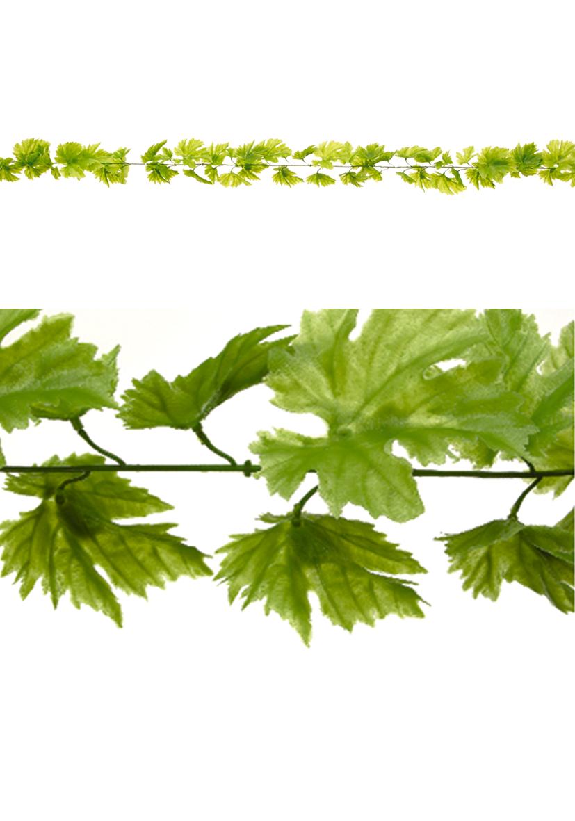 collana foglie di vite verdi