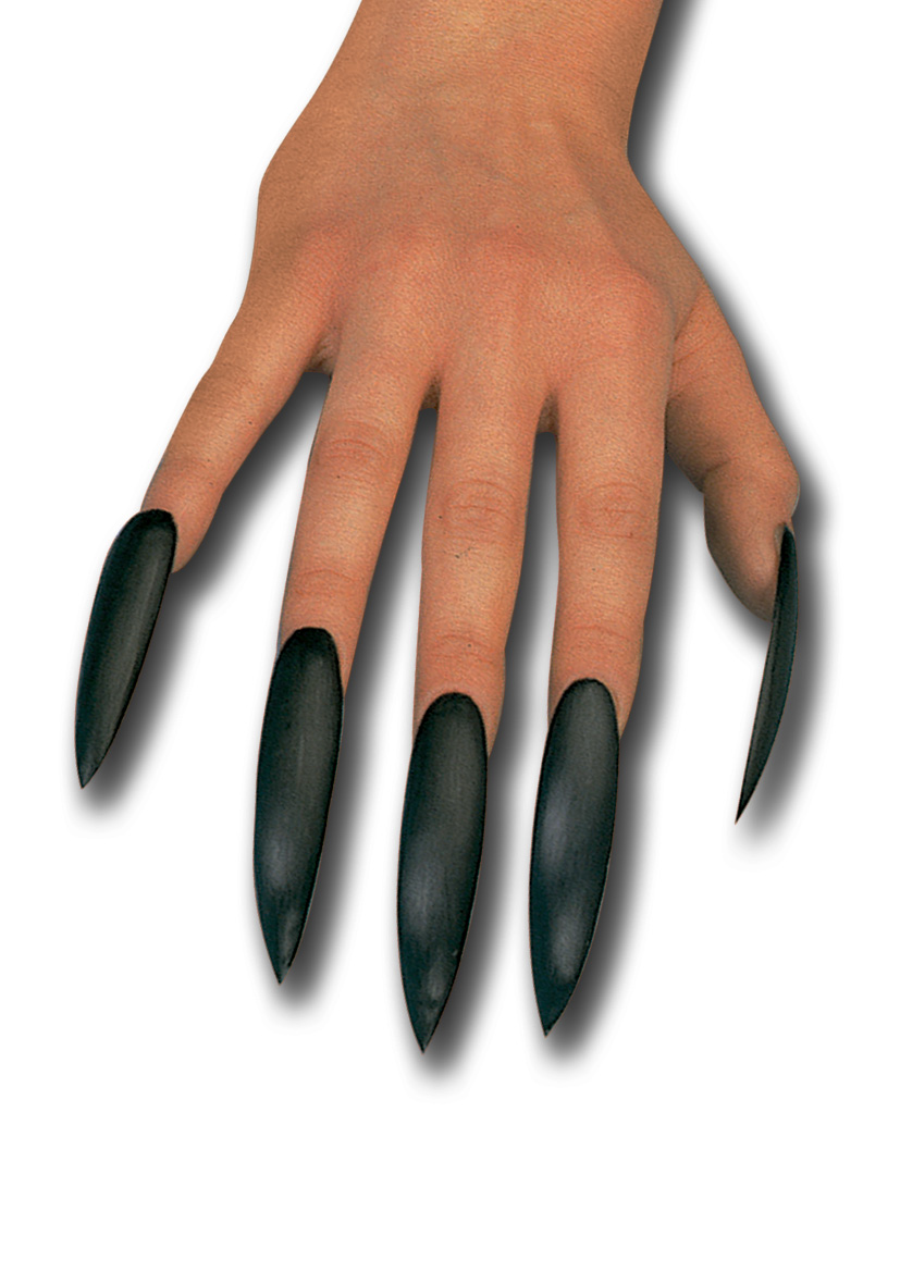 10 unghie adesive nere