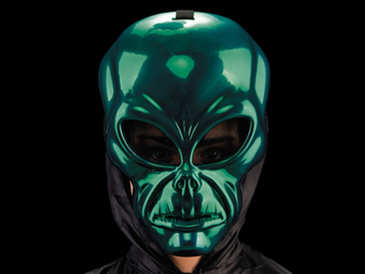 Maschera alieno metallizzata
