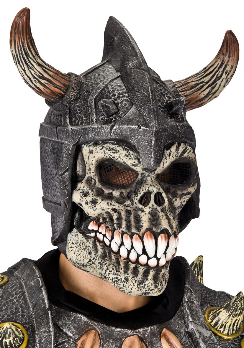 Maschera teschio con elmo vichingo