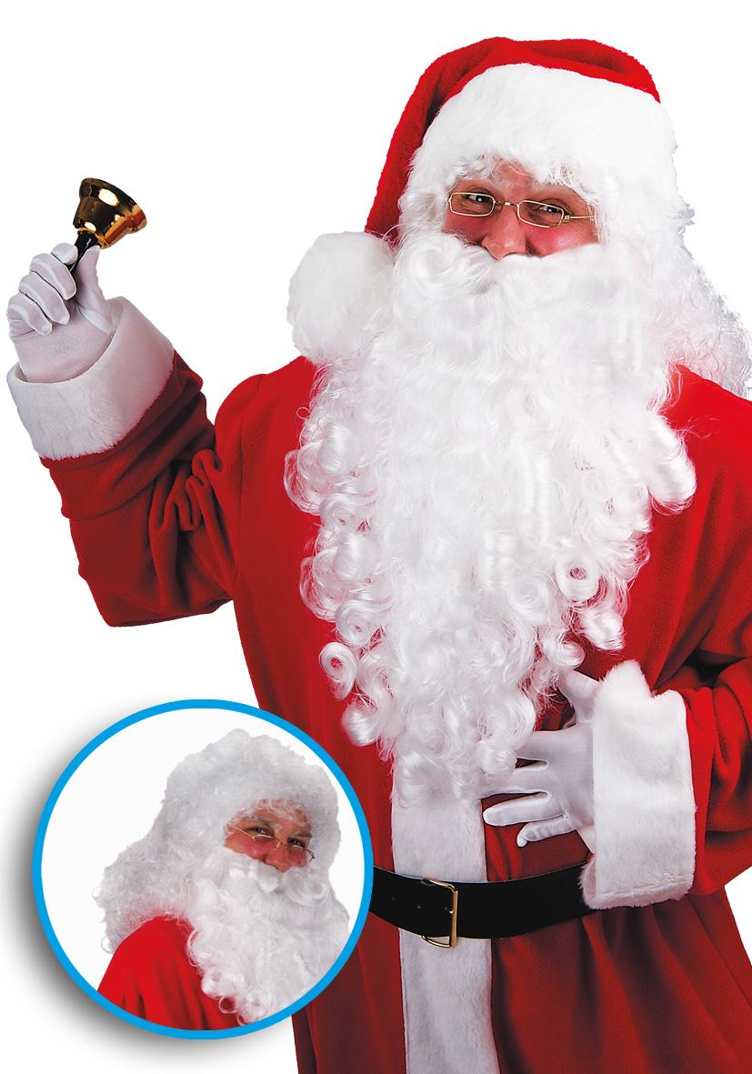 parrucca e barba gigante bianca lusso cm 70
