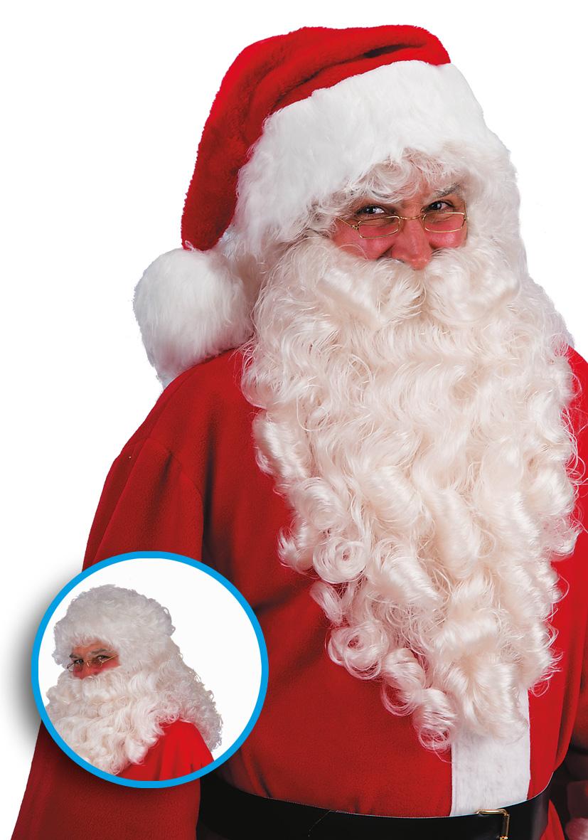 parrucca e barba gigante avorio lunghezza 70cm