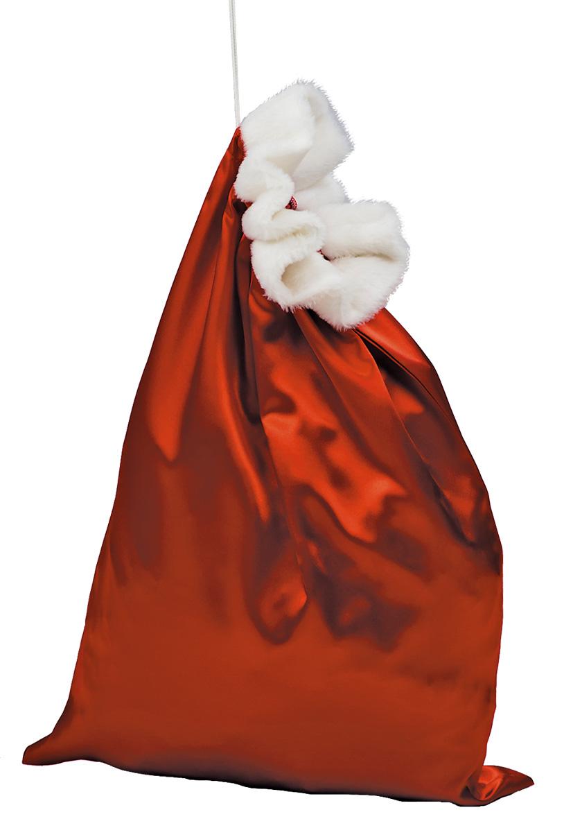 Sacco di Babbo natale in raso rosso cm 72