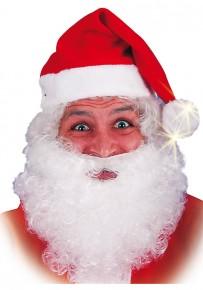 cappuccio Babbo Natale con pon pon luminoso