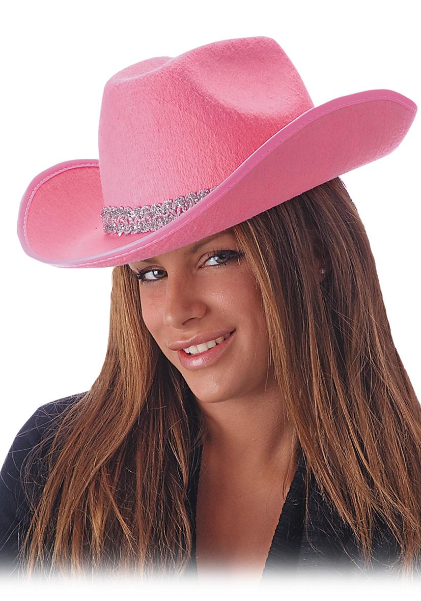 Cappello rosa in feltro con passamaneria argentata