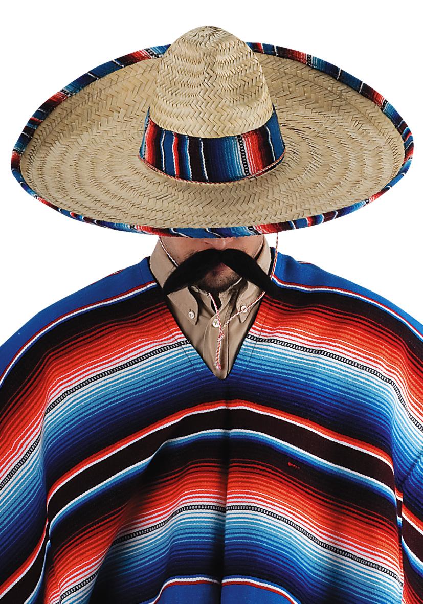 Sombrero con finiture in paglia
