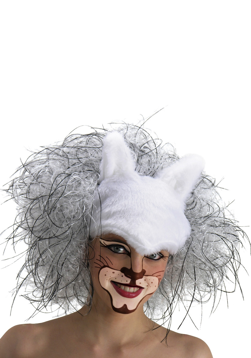 Parrucca Gatto bianco