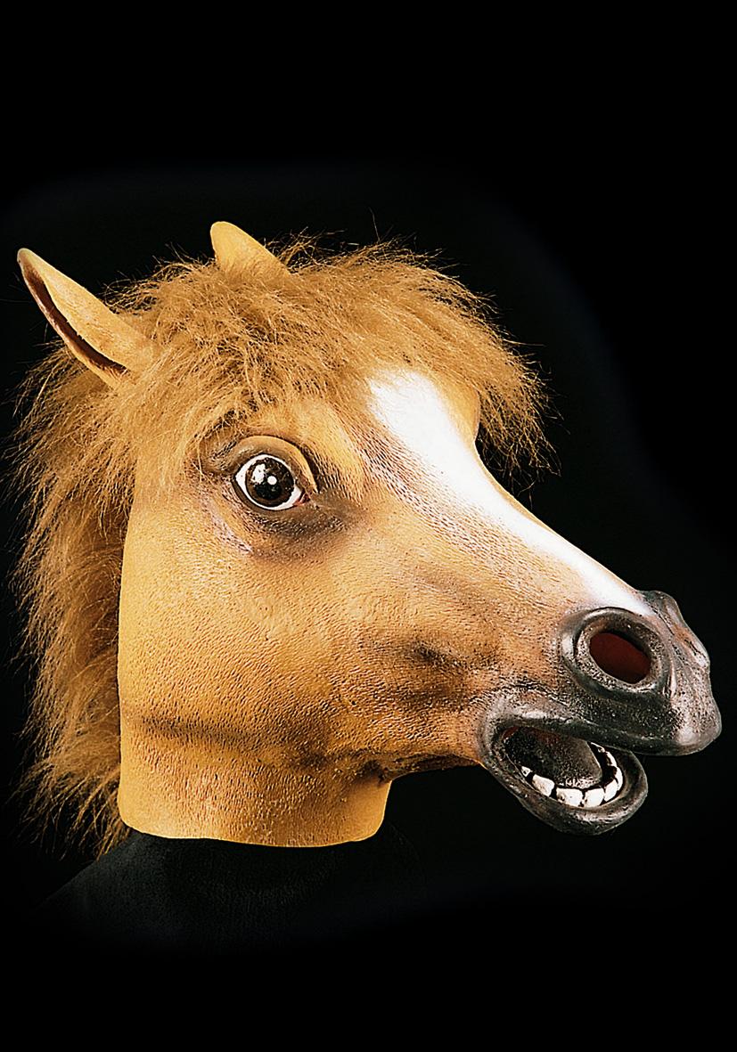 Maschera cavallo in lattice