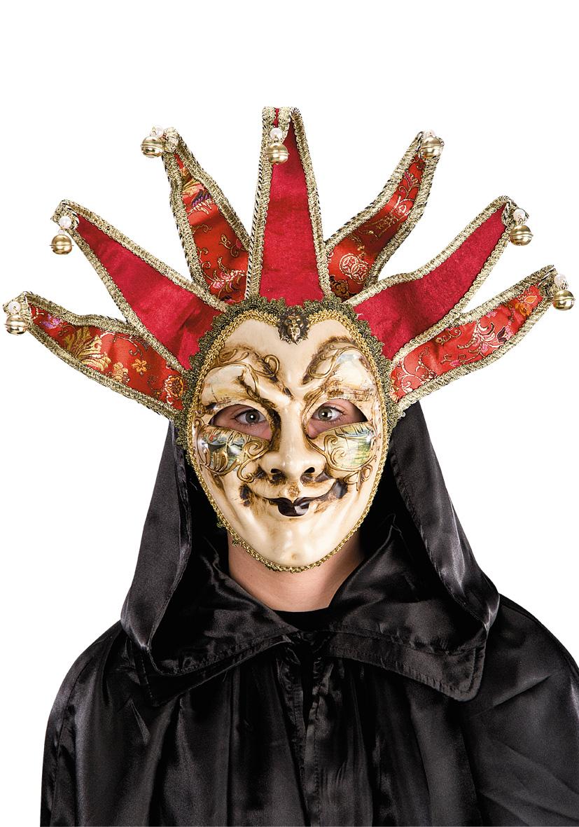 Maschera jolly con campanelli