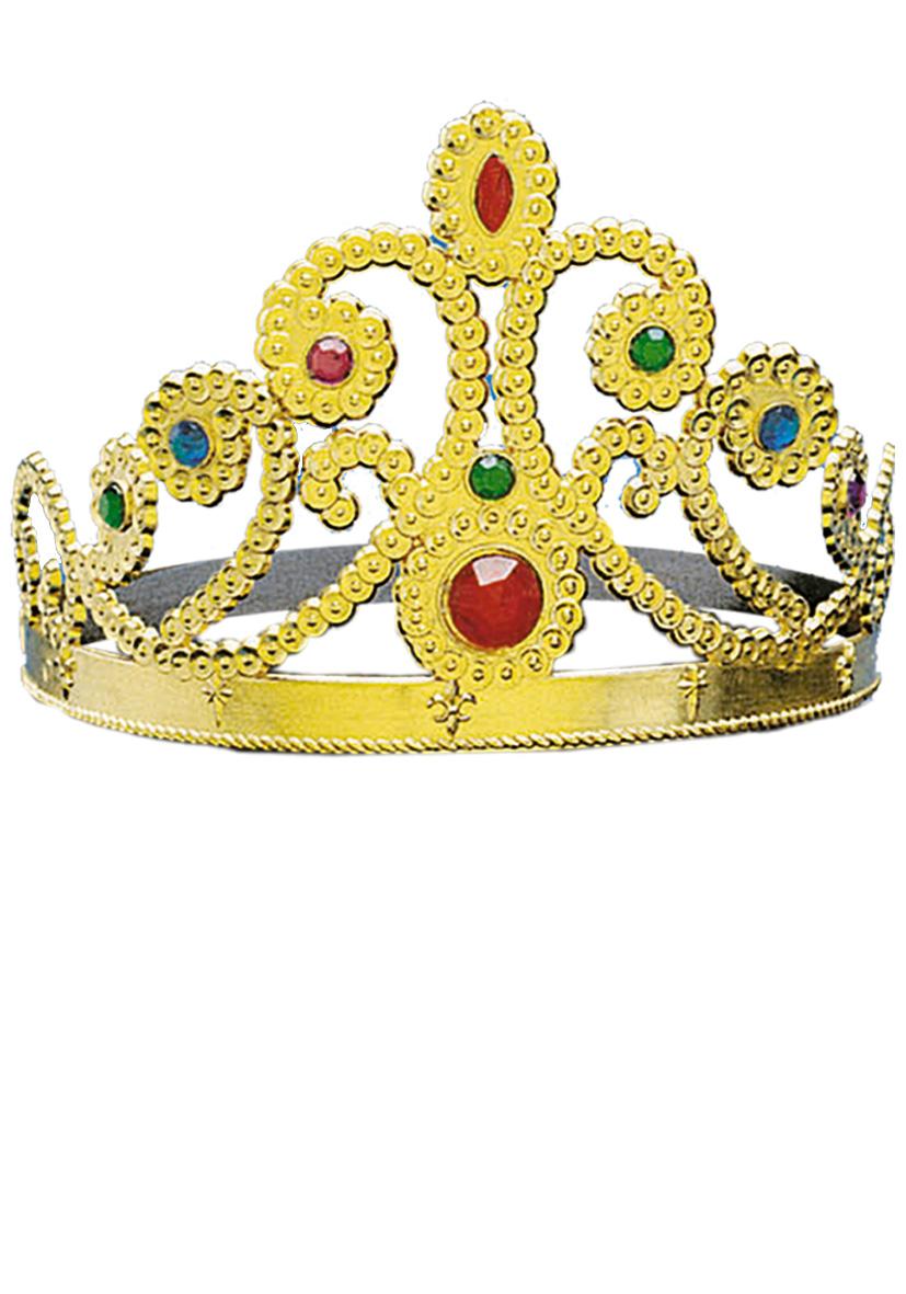 Corona in plastica dorata