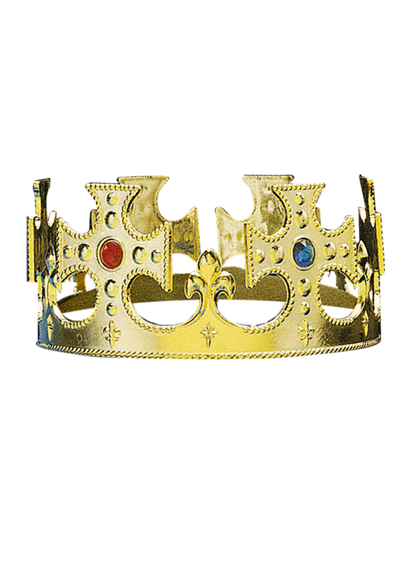 Corona plastica dorata