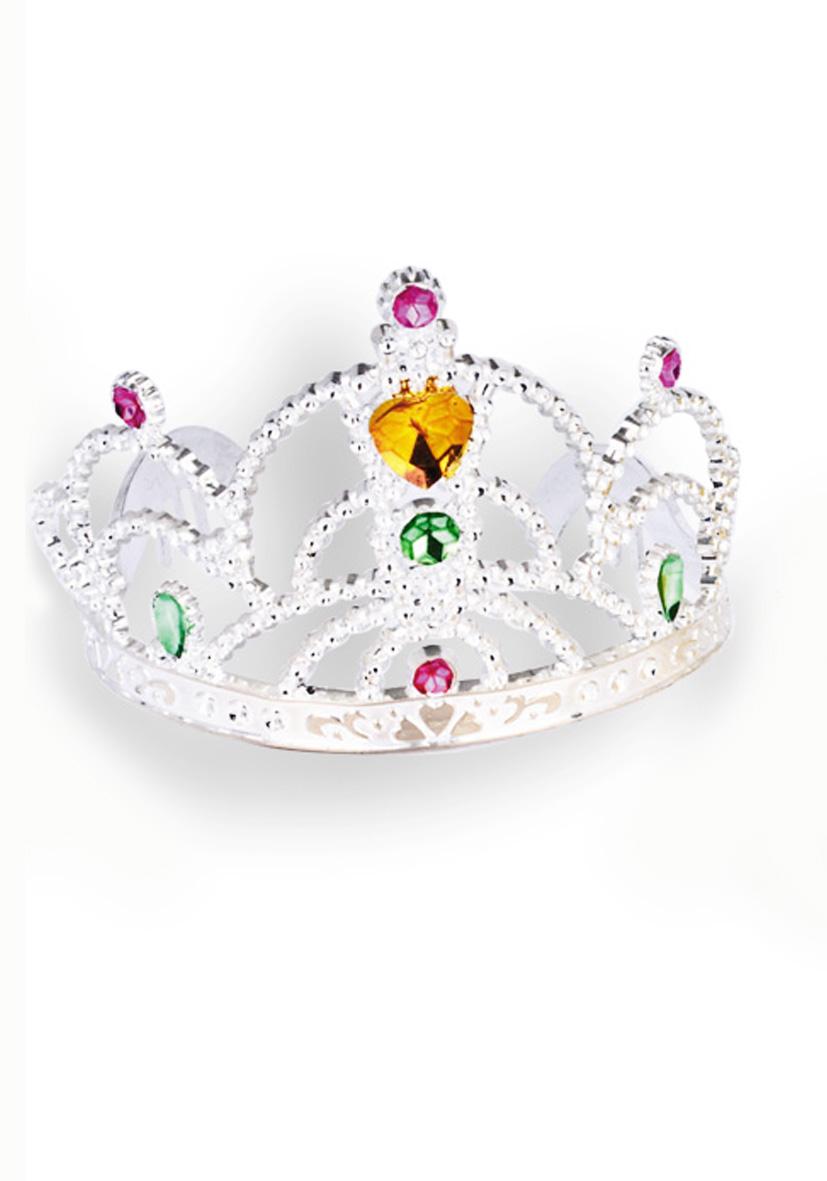 Corona argento in plastica