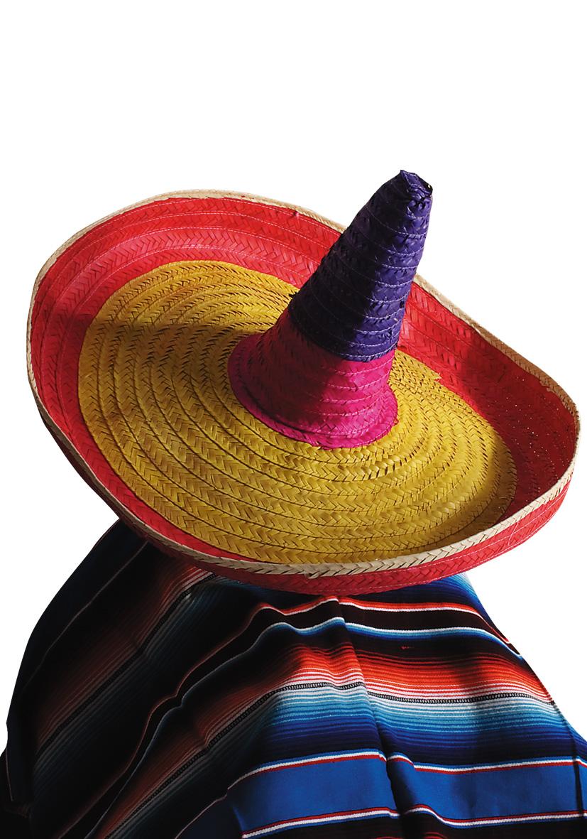 Sombrero gigante in paglia