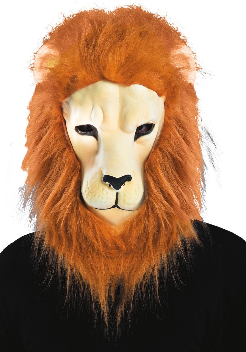 Maschera leone criniera in eva con pelo