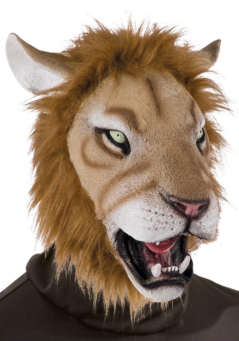 Maschera leone in lattice