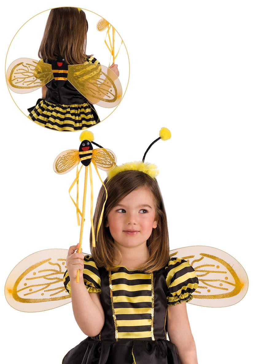 Set ape con ali, bacchetta e cerchietto