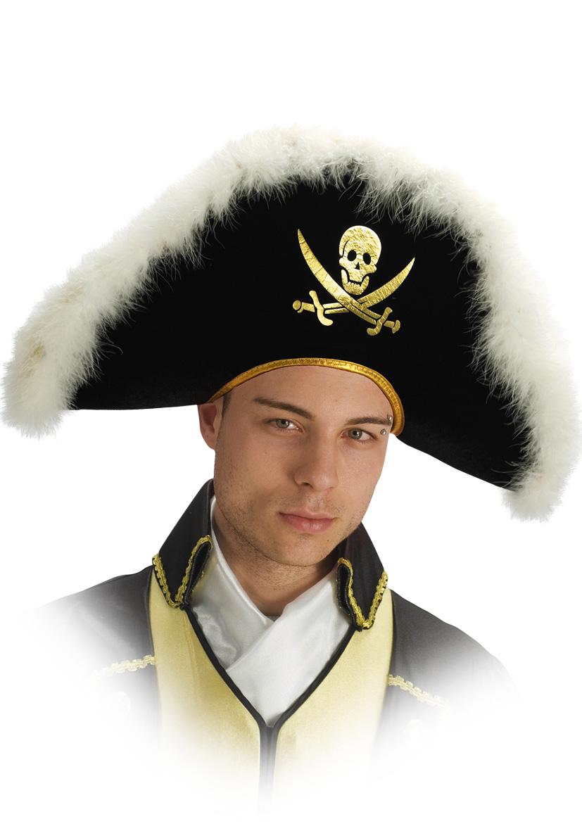 Cappello pirata con marabout