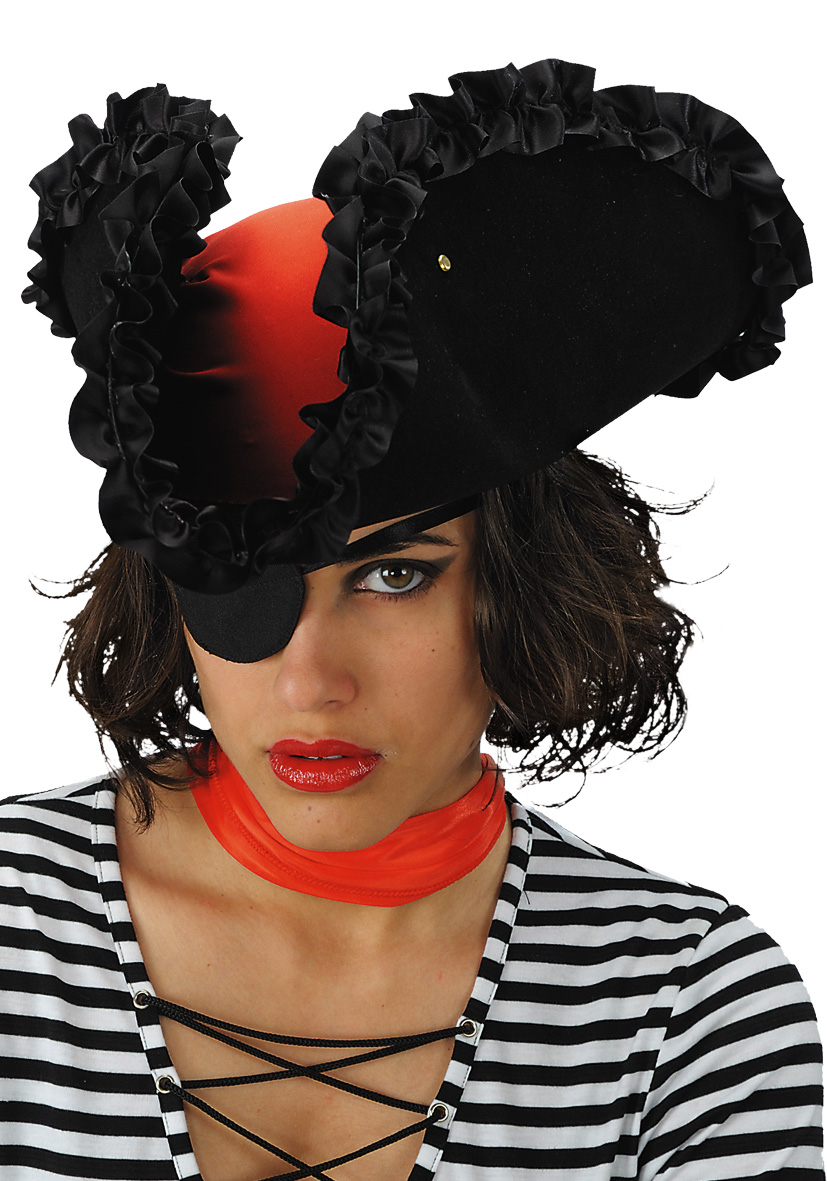 Cappello piratessa perla nera