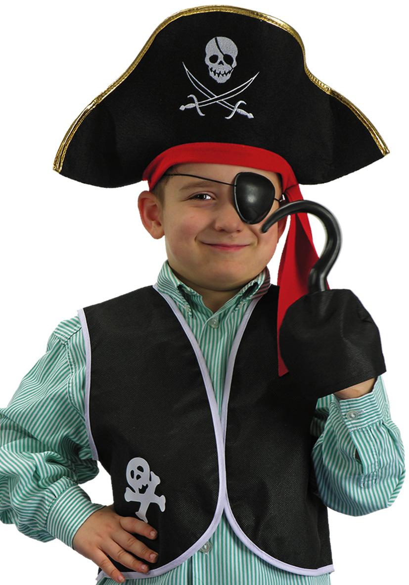 Set pirata con cappello e gilet