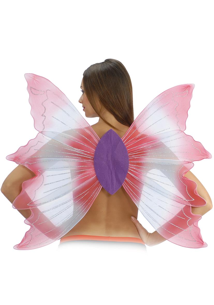 Ali farfalla bianche e rosa