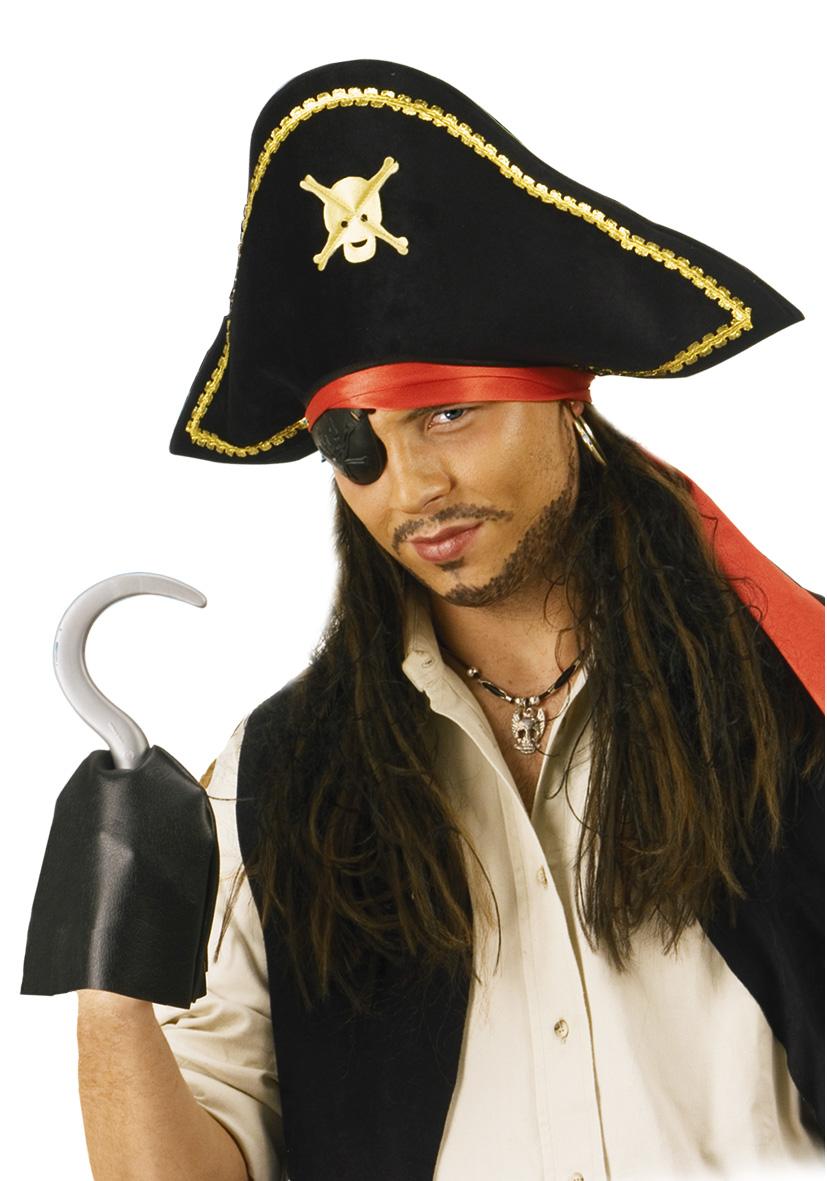 Parrucca pirata con bandana e cappello