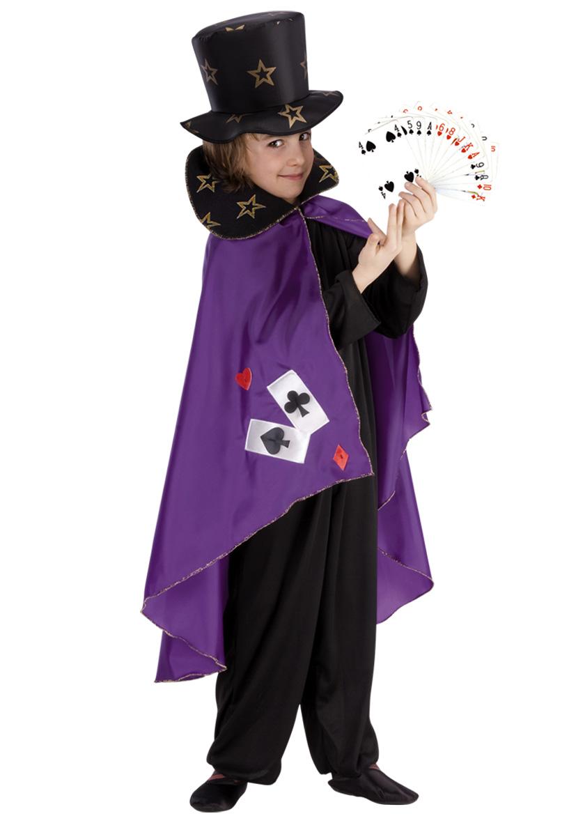 Mantello in taffetà viola e cappello