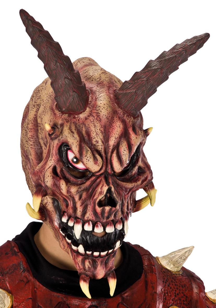 Maschera da caprone indiavolato in lattice