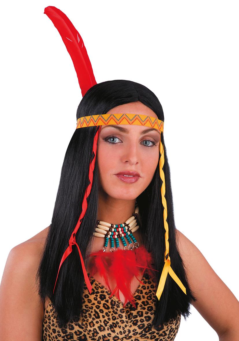 Parrucca indiana liscia nera