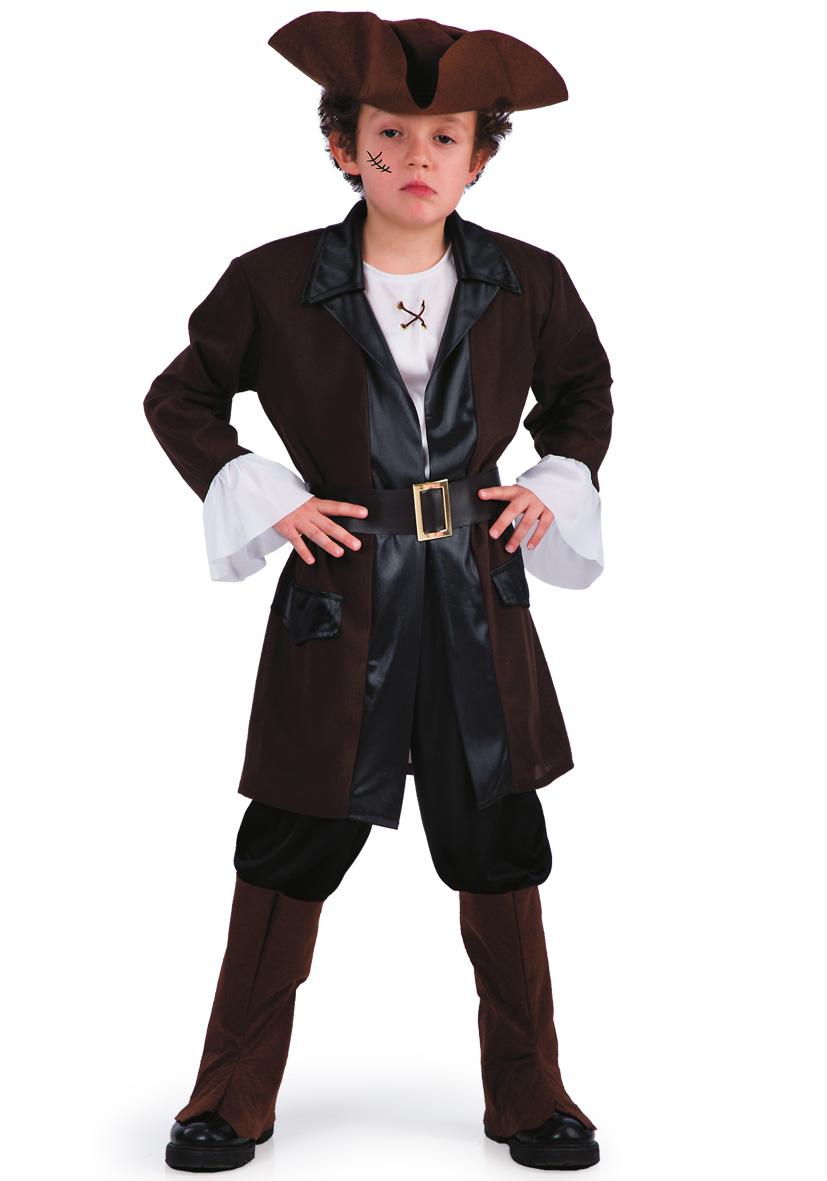 Costume pirata con cappello