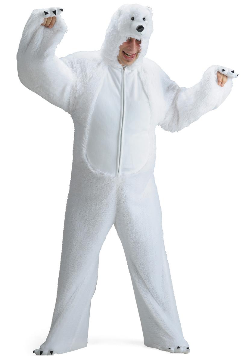 Costume peluche orso bianco