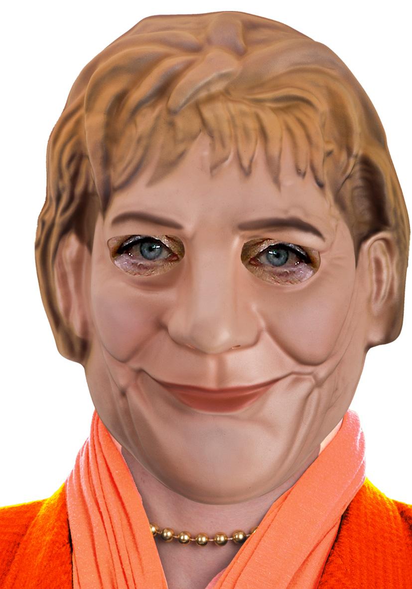 Maschera Merkel in eva