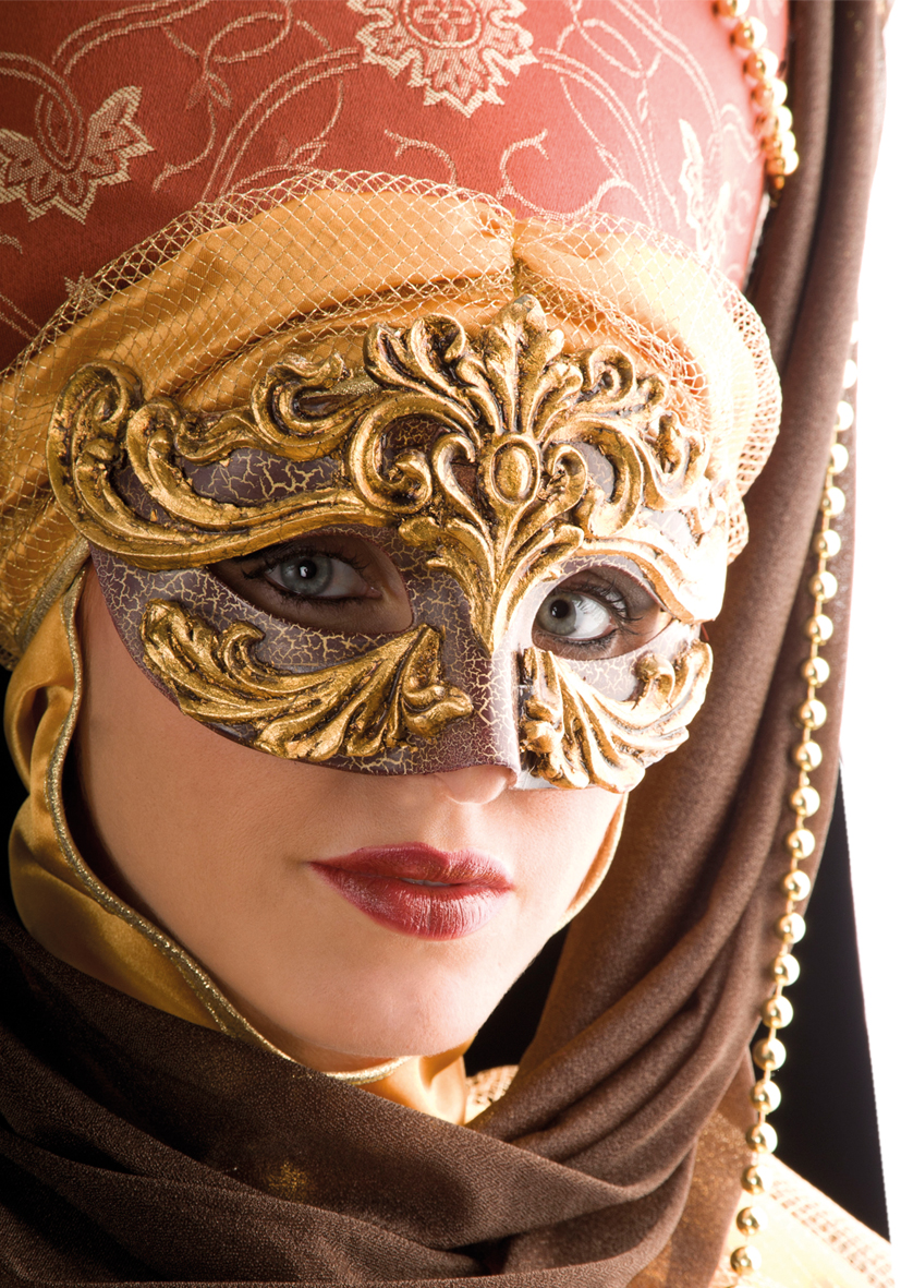 Maschera diadema Rococò