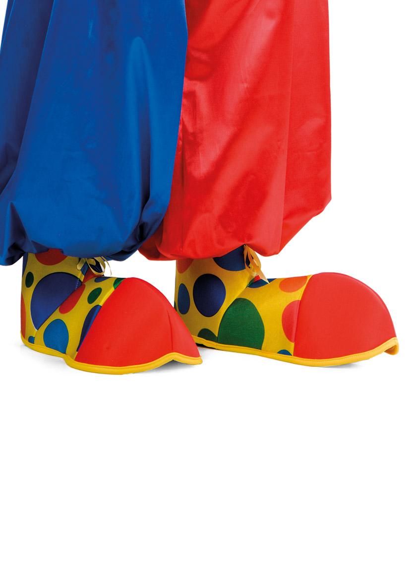 Copriscarpe clown in tessuto