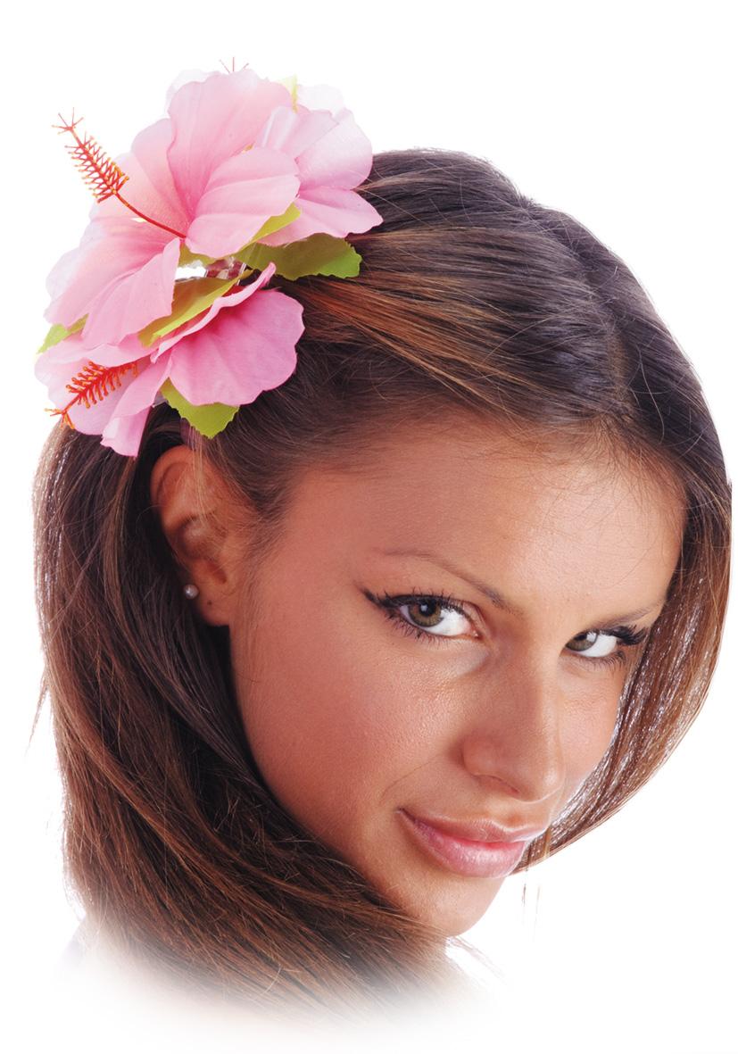 Molletta con fiore rosa