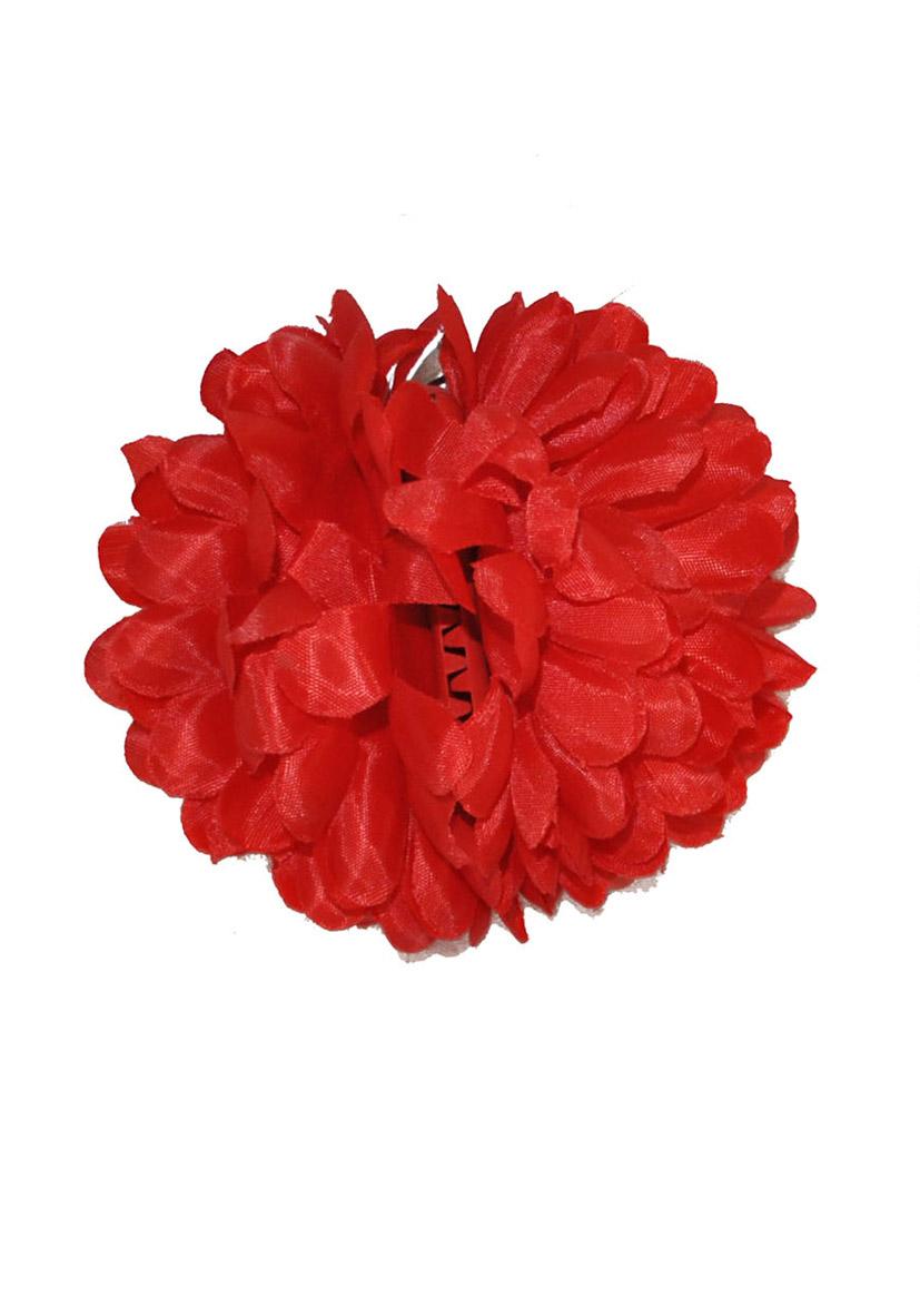 fermaglio fiore rosso