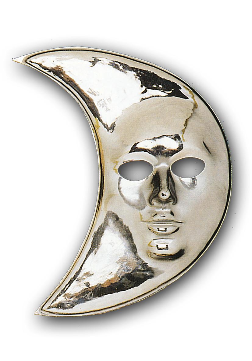 maschera luna argento