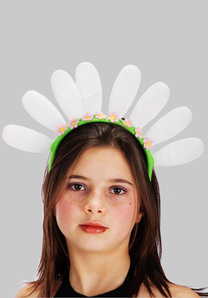 Cerchietto con petali bianchi